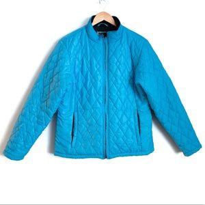 L.L. Bean Misses Quilted Blue Jacket